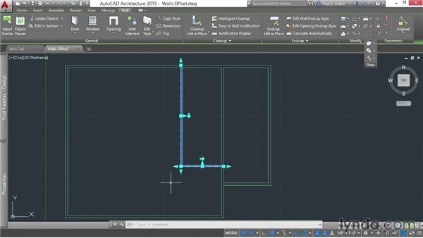 Offsetting walls: AutoCAD Architecture Essential Training