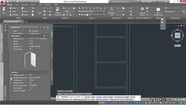 Adding doors and windows: AutoCAD Architecture Essential Training