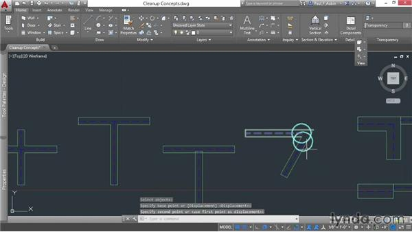 Understanding wall cleanup: AutoCAD Architecture Essential Training