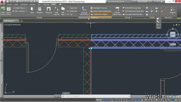 Cleaning up walls in a drawing: AutoCAD Architecture Essential Training