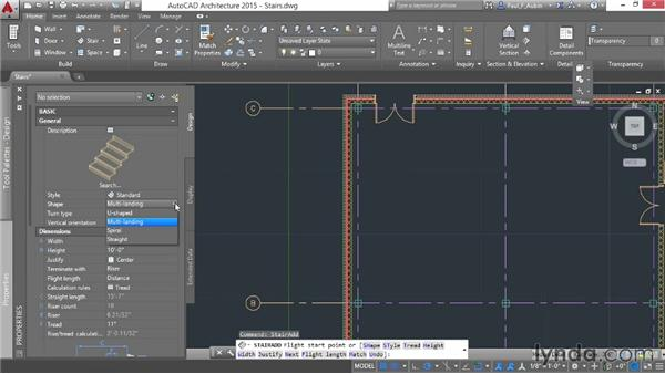 Adding stairs: AutoCAD Architecture Essential Training