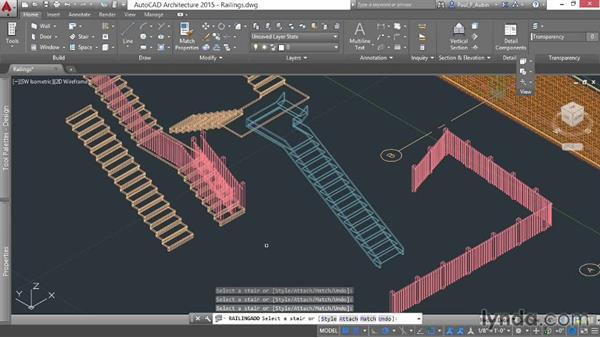 Adding railings: AutoCAD Architecture Essential Training