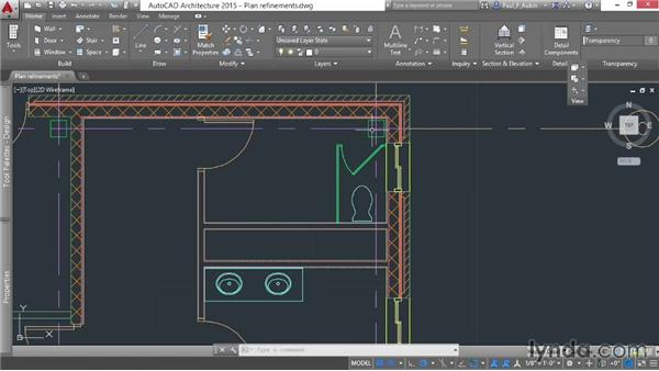 Refining plans with other objects: AutoCAD Architecture Essential Training
