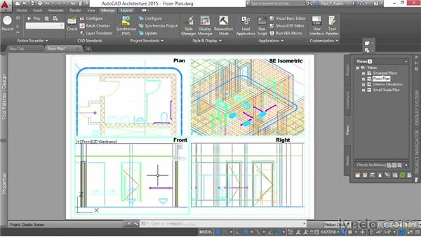 Working with direction-dependent displays: AutoCAD Architecture Essential Training