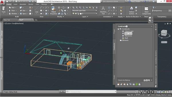 Adding roofs: AutoCAD Architecture Essential Training