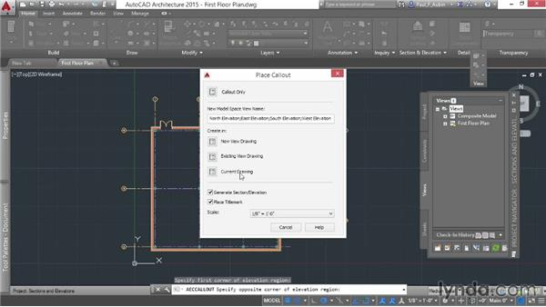 Using callouts to add elevations: AutoCAD Architecture Essential Training