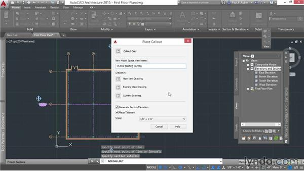 Using callouts to add sections: AutoCAD Architecture Essential Training