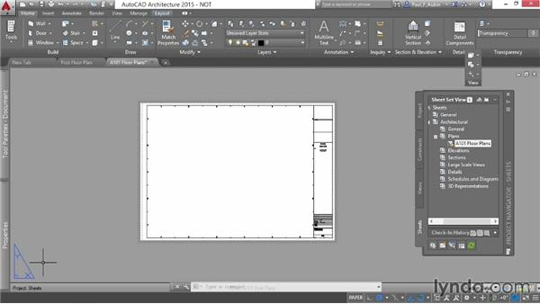Adding sheets: AutoCAD Architecture Essential Training