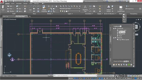 Updating project files: AutoCAD Architecture Essential Training