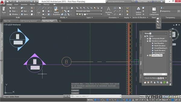 Updating sheets and callouts: AutoCAD Architecture Essential Training