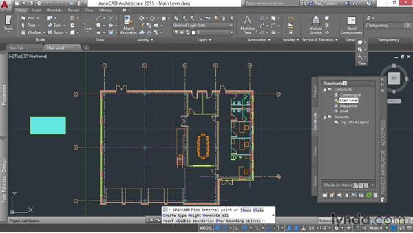 Using spaces: AutoCAD Architecture Essential Training