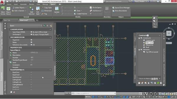 Working with property sets: AutoCAD Architecture Essential Training