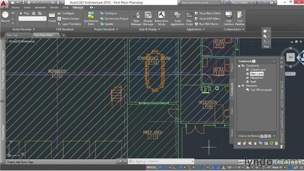 Adding room tags: AutoCAD Architecture Essential Training