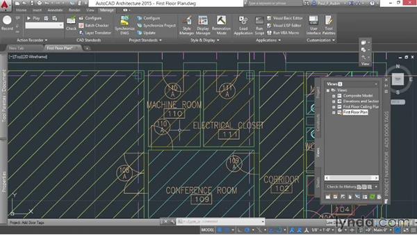 Adding door tags: AutoCAD Architecture Essential Training