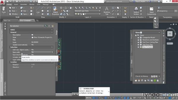 Adding schedules: AutoCAD Architecture Essential Training