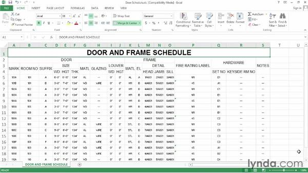Exporting and printing schedules: AutoCAD Architecture Essential Training