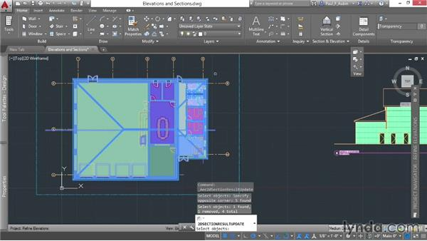 Refining elevations and sections: AutoCAD Architecture Essential Training