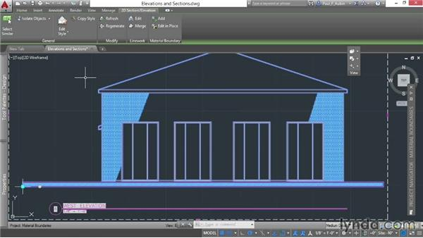 Adding material boundaries: AutoCAD Architecture Essential Training