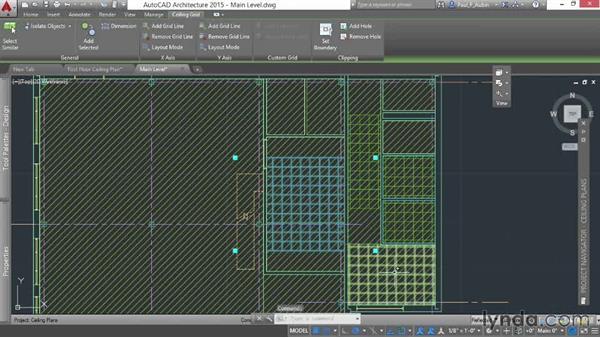 Creating ceiling plans: AutoCAD Architecture Essential Training