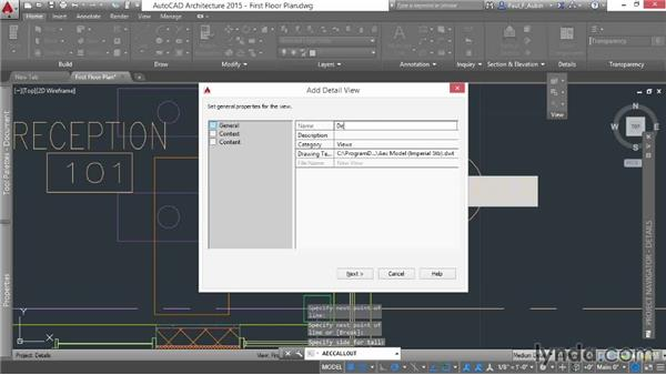 Creating a detail callout: AutoCAD Architecture Essential Training
