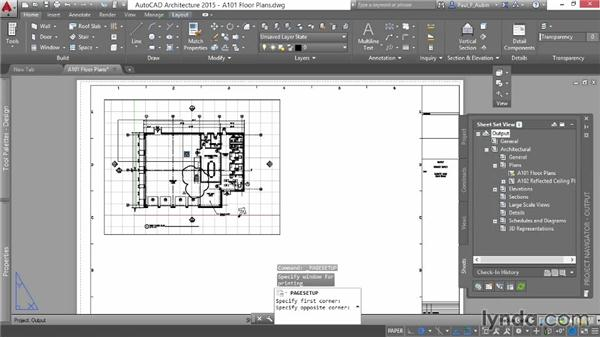 Printing a project: AutoCAD Architecture Essential Training