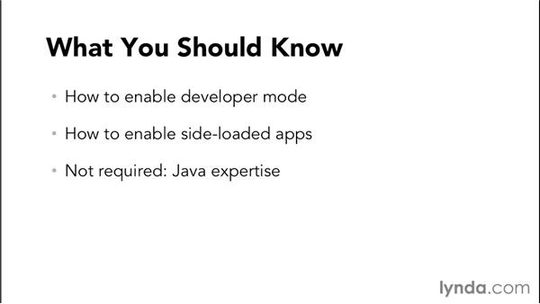 What you should know before watching this course: Simple Android Development Tools