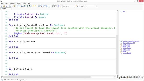 Building a HelloWorld app: Simple Android Development Tools