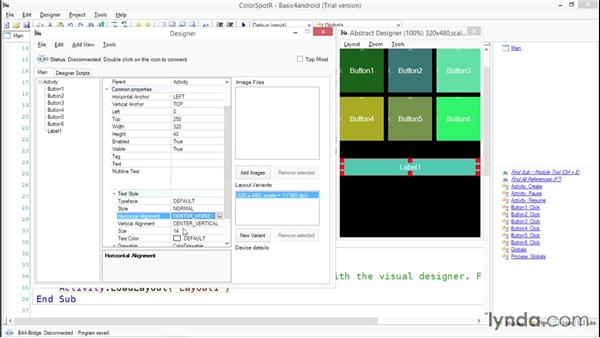 Creating the ColorSpotR user interface: Simple Android Development Tools