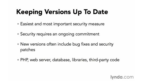 Keeping versions up to date: Creating Secure PHP Websites