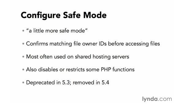 Configuring safe mode: Creating Secure PHP Websites