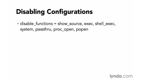 Other configurations: Creating Secure PHP Websites