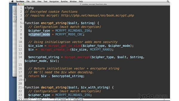 Encrypting cookies: Creating Secure PHP Websites