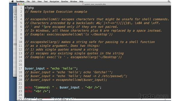 Remote system execution: Creating Secure PHP Websites