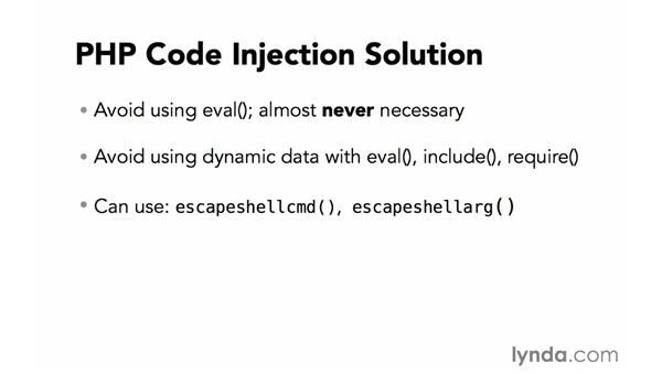 PHP code injection: Creating Secure PHP Websites