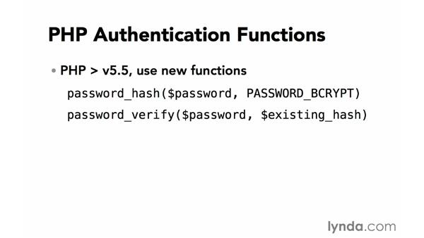 Password encryption: Creating Secure PHP Websites