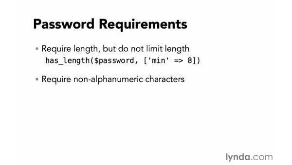 Password requirements: Creating Secure PHP Websites