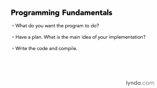Understanding C programming fundamentals: C Essential Training