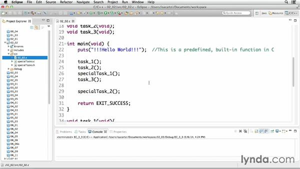 Making code more manageable: C Essential Training