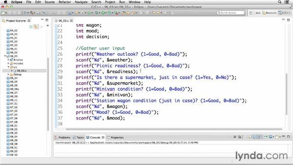 Making decisions using logical operators: C Essential Training