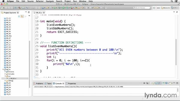 Executing statements repeatedly with loops: C Essential Training