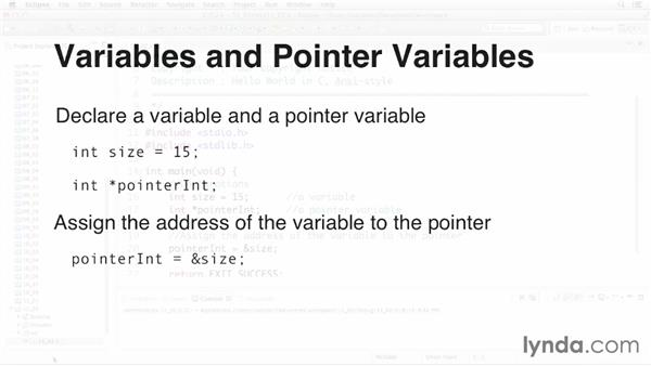 Declaring and initializing a pointer variable: C Essential Training