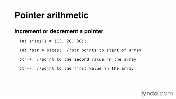 Performing pointer arithmetic: C Essential Training