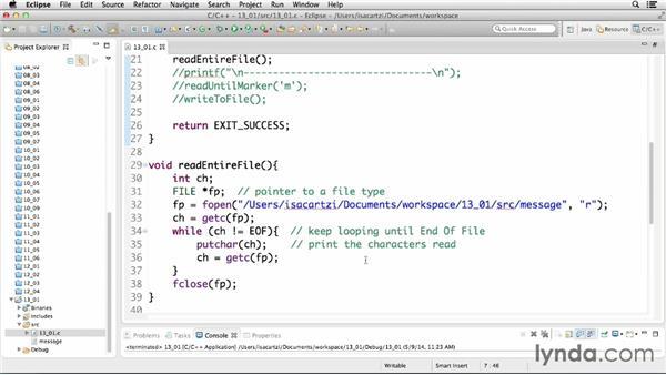 Data management using sequential files: C Essential Training
