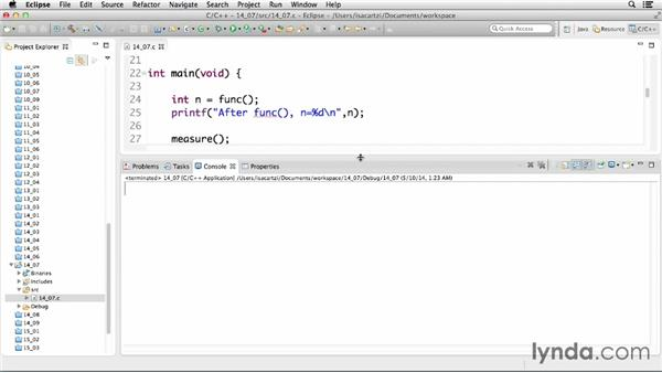 Returning data from functions: C Essential Training