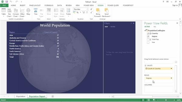 Changing a table to a matrix visualization: Power BI Features in Depth