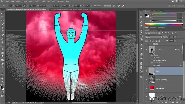 Bringing the burst pattern into Photoshop: Designing a Retro-Style Superhero