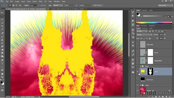 Stroking the composite flames: Designing a Retro-Style Superhero