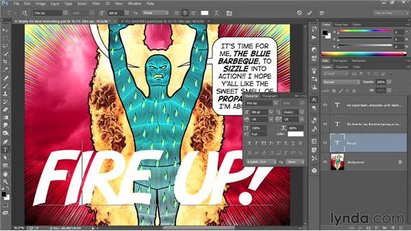 Stylizing the custom font in Photoshop: Designing a Retro-Style Superhero