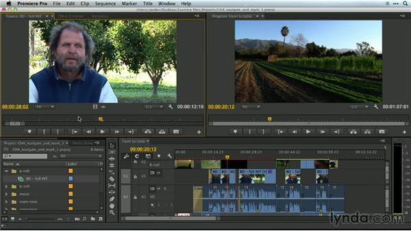 Navigating footage: Premiere Pro Guru: Essential Keyboard Shortcuts