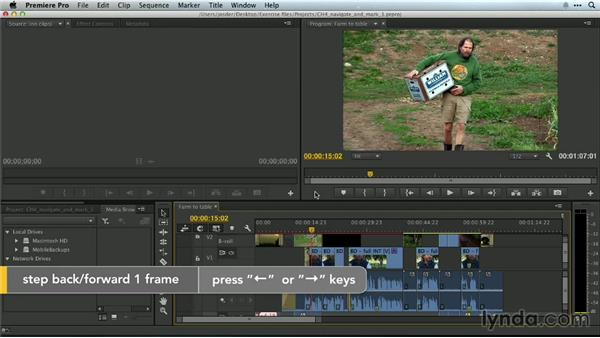 Advance by a frame: Premiere Pro Guru: Essential Keyboard Shortcuts